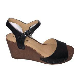 Lucky Brand Zashti black wedge platform sandals